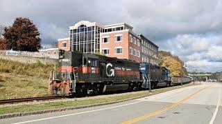 Pan Am Railways Dirt Train Chase - 10/25/2016