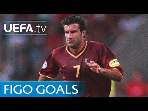 Luís Figo: Watch five of his greatest goals