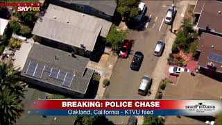 SUSPECT IN CUSTODY: Following car chase that ended on foot in Oakland (FNN)