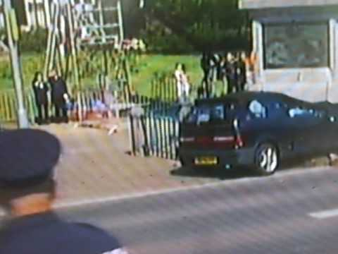 Video car attack in front of Royal Dutch Family during Qeensday 2009 April 30, in The Netherlands