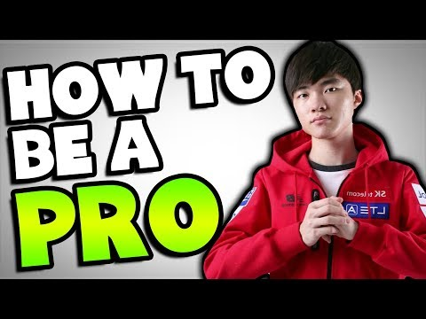 How To Become a PRO PLAYER In League of Legends