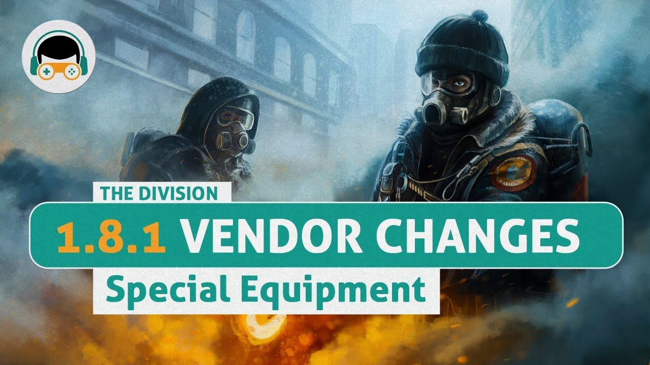 The Division 1 8 1 - Special Equipment Vendor Changes