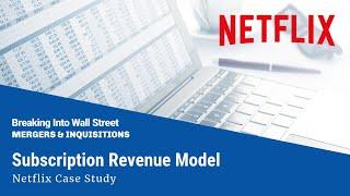 Subscription Revenue Model (Netflix) thumbnail