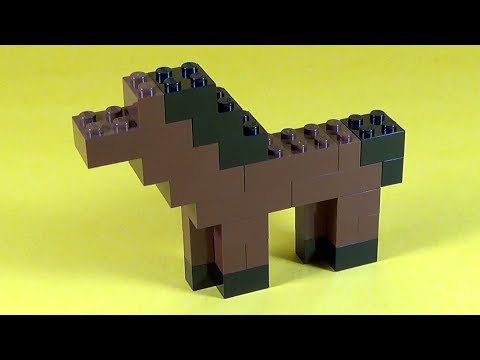 How to build lego horse 6177 lego basic bricks deluxe for Cool things made out of horseshoes