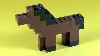 How To Build Lego HORSE - 6177 LEGO® Basic Bricks Deluxe Projects for Kids