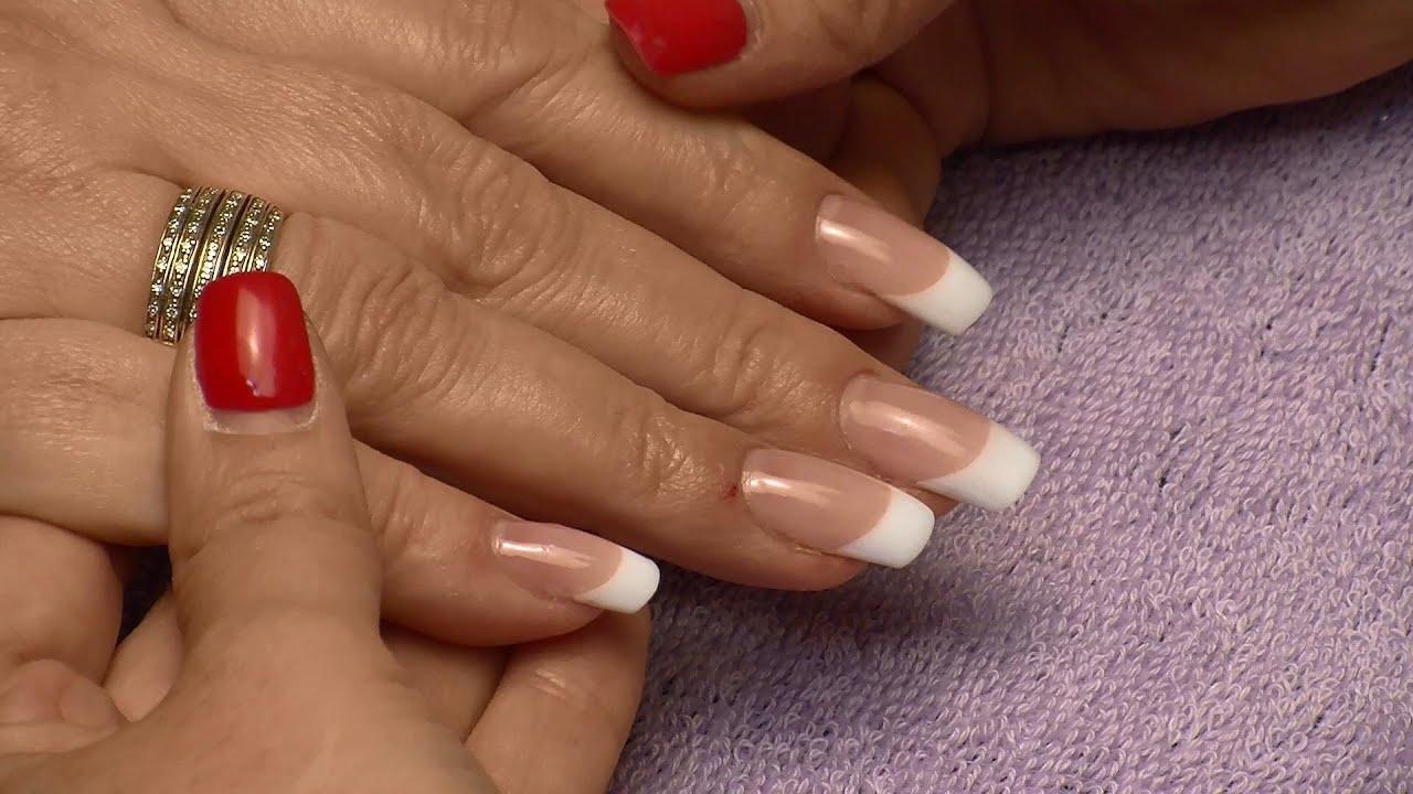 Фото акриловое наращивание ногтей