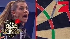 Triple 13! Sarah Harrison verwandelt Match Darts!  | Promi Darts WM 2020 | ProSieben