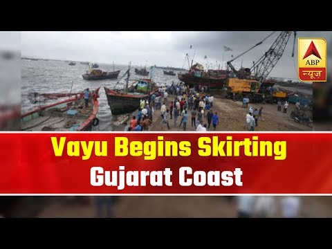 Cyclone Vayu Begins Skirting Gujarat Coast | ABP News