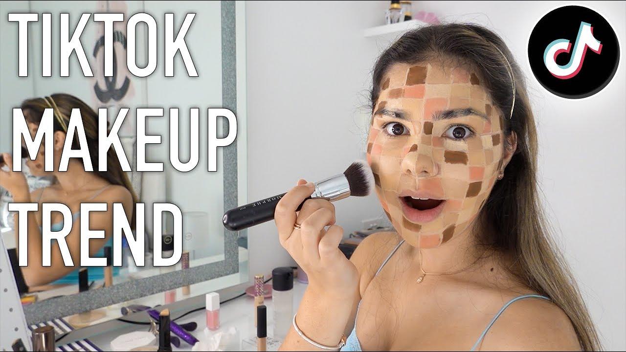 Testing TikTok Checkerboard Makeup Trend | Grace's Room