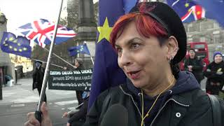 #stopbrexit road block protest in London, Lambeth Bridge 26 March 2018