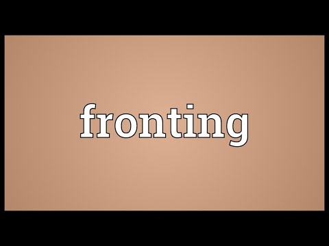 Header of fronting