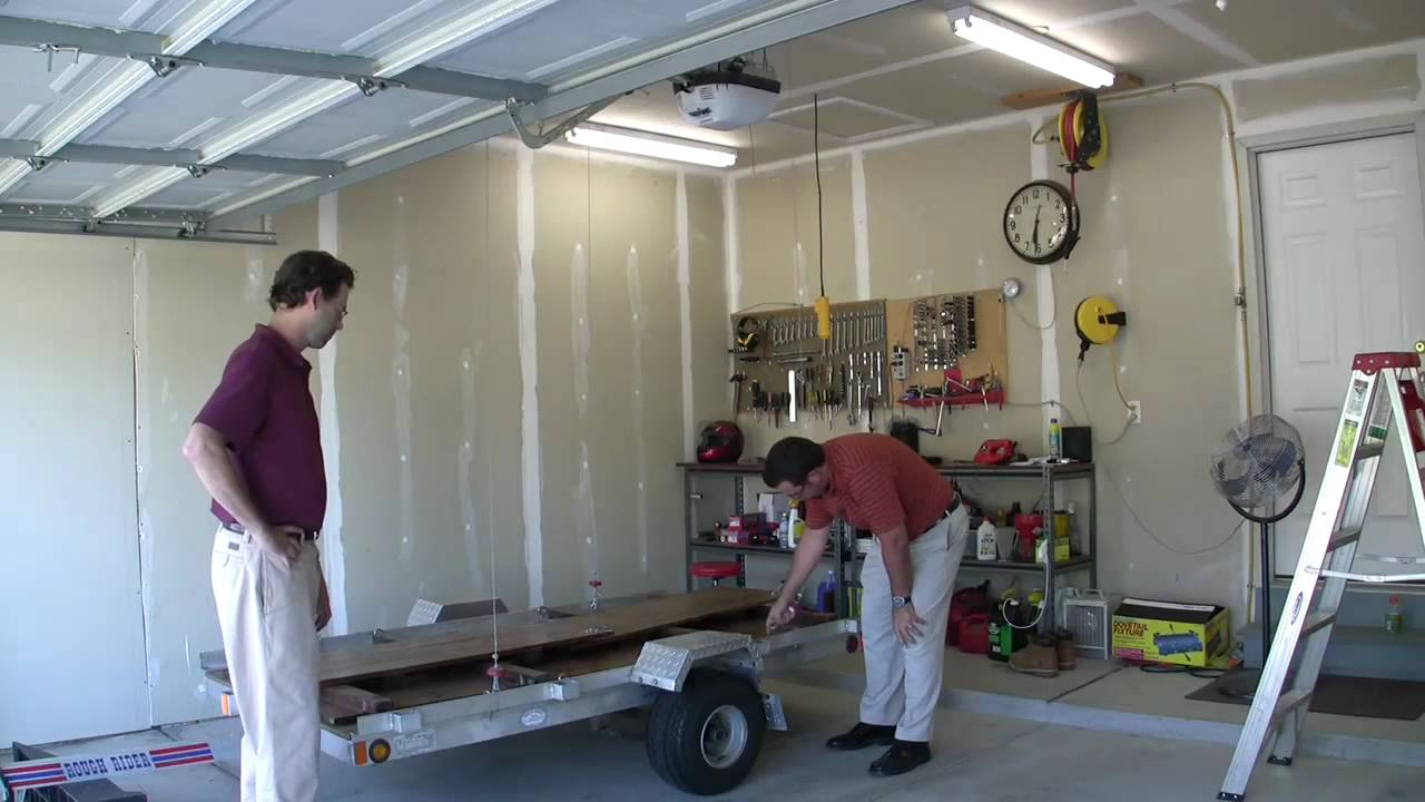 Winch Garage Trailer Lift Tatv 9 Youtube