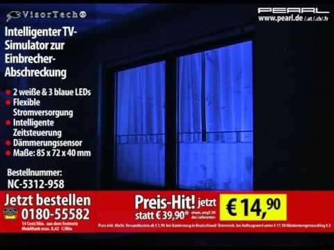 visortech intelligenter tv simulator zur einbrecher abschreckung youtube. Black Bedroom Furniture Sets. Home Design Ideas