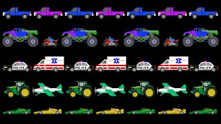 Vehicle Patterns - ABAB - Sports, Street, Construction - The Kids