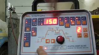 Обзор настроек сварочного аппарата Triton Alutig 250P AC/DC.