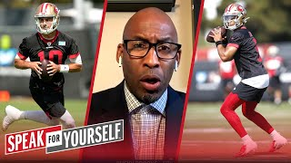 How realistic is Trey Lance taking Jimmy G's starting job? | NFL | SPEAK FOR YOURSELF