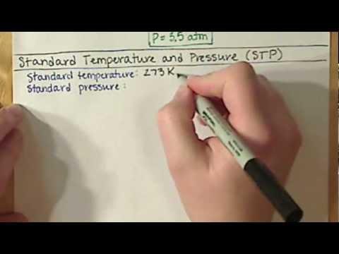 Chem121 Standard Temperature and Pressure STP 7 8
