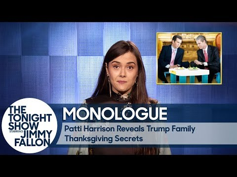 Download Youtube: Patti Harrison Reveals Trump Family Thanksgiving Secrets - Monologue