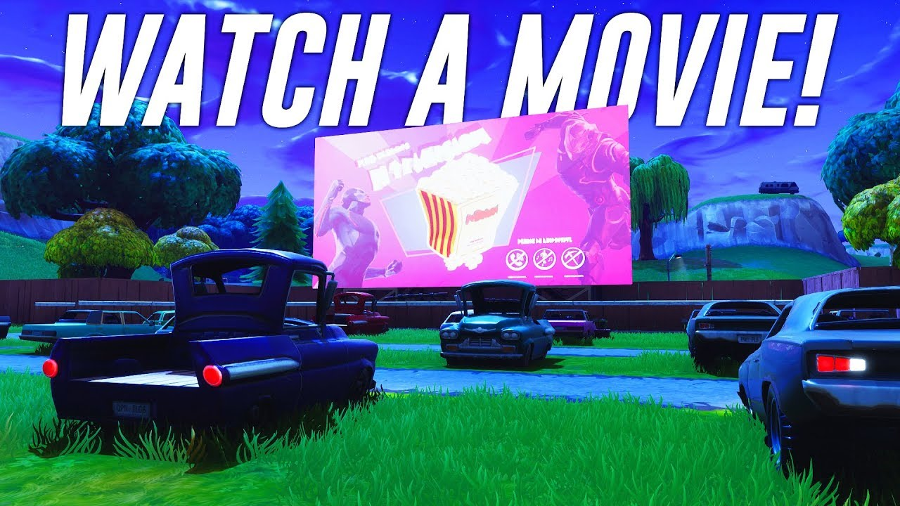 How to Watch a Movie in Fortnite! - YouTube
