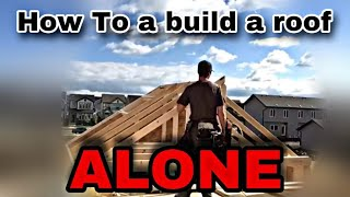 how to build a small roof