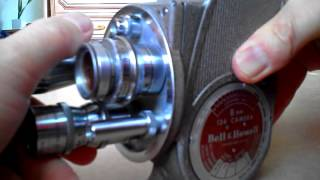 Film loading - Bell & Howell cine camera 134