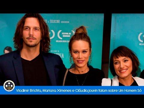 Vladimir Brichta, Mariana Ximenes e a diretora Cláudia Jouvin falam sobre Um Homem Só