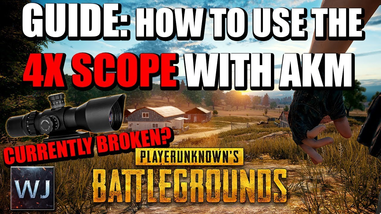 Download [OUTDATED] GUIDE: How to CORRECTLY use the 4X SCOPE with AKM in PLAYERUNKNOWN's BATTLEGROUNDS (PUBG)