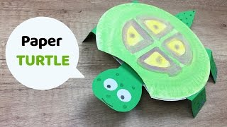 Moving turtle kids craft, CUTE and simple to make