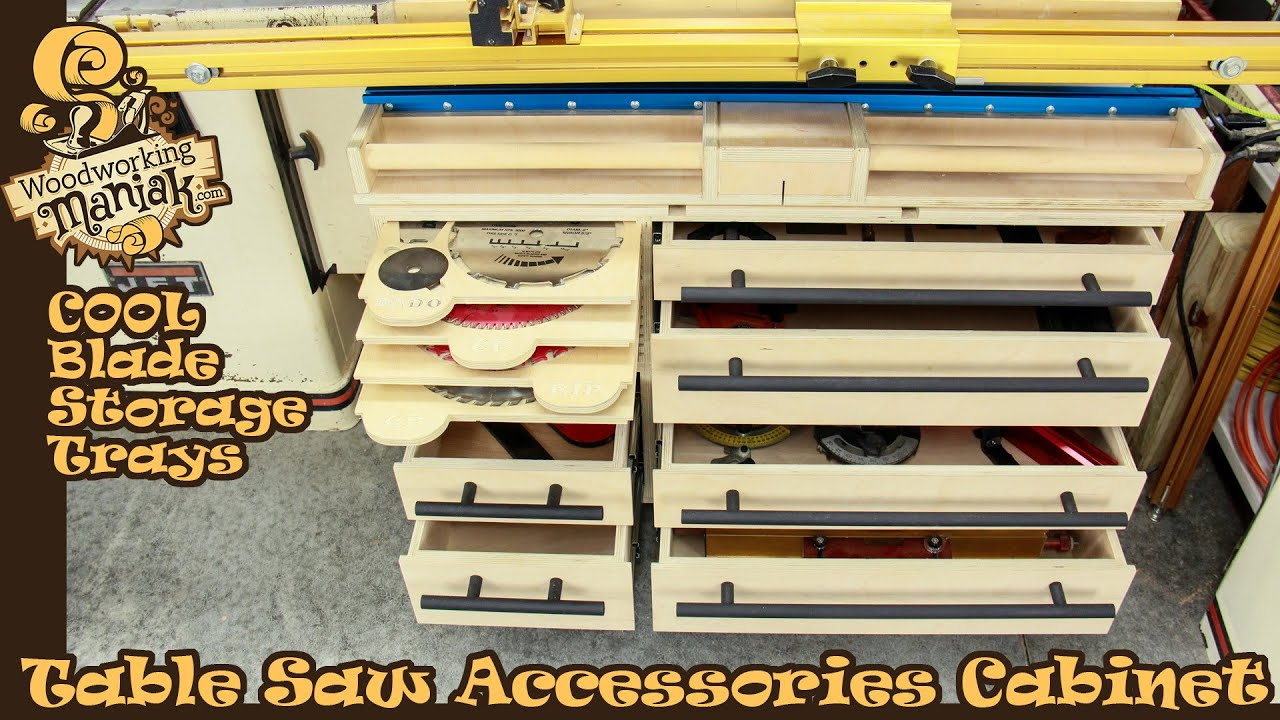 Table Saw Accessories Cabinet
