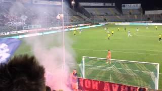 Brescia-Novara:post Gol Caracciolo