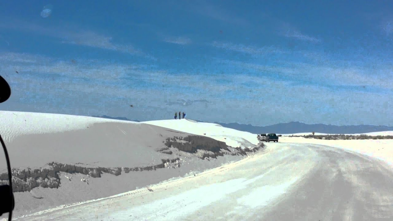 Driving Through White Sands National Monument