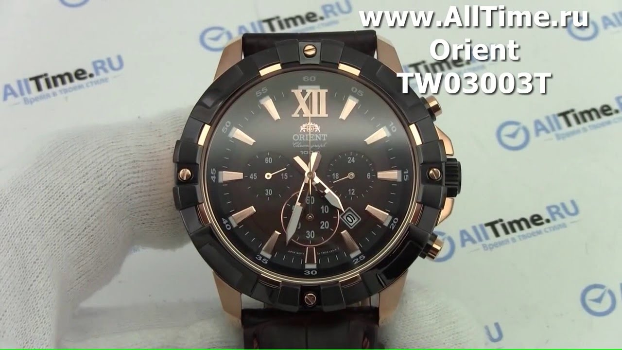 c6496ab1 Обзор. Мужские наручные часы Orient TW03003T с хронографом - YouTube