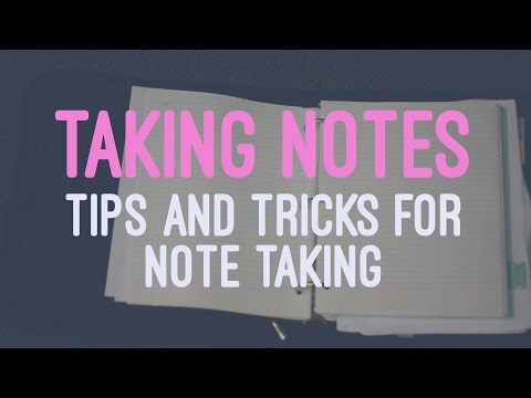 Tips on Taking Notes