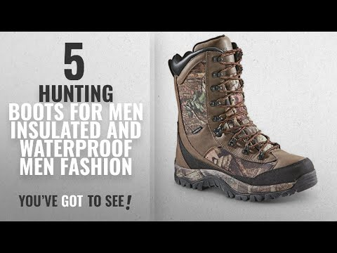 Top 10 Hunting Boots For Men Insulated And Waterproof [Men Fashion Winter 2018 ]: Guide Gear Men's