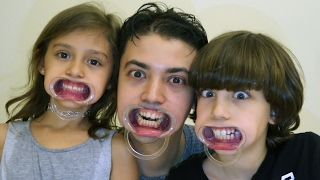 تحدي الفم الكبير مع بابا!