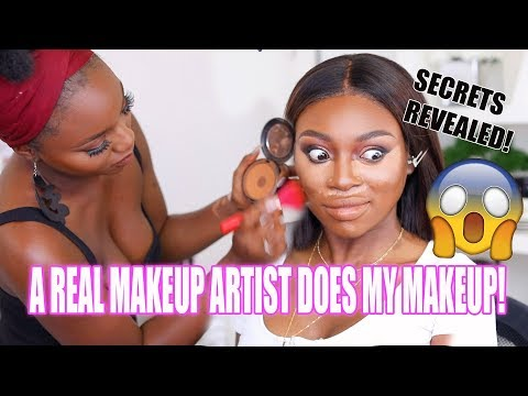 A REAL MAKEUP ARTIST DOES MY MAKEUP!!! I ACTUALLY CANT BELIE
