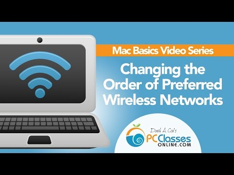 Changing the Order of Preferred Wireless Networks - Mac