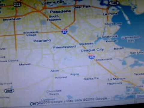 Dennis K  map of Houston area  1-8-10