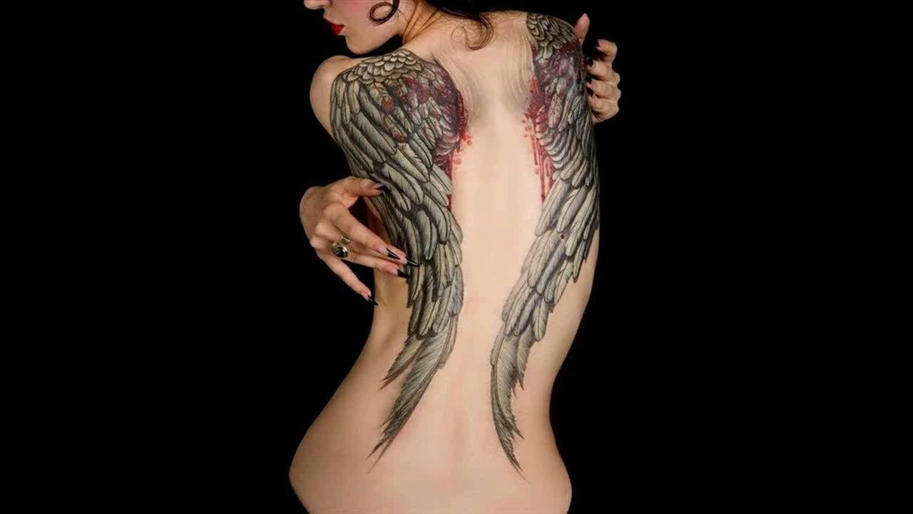 d9e6b7f1c 15 Angel Wing Tattoo Designs to Try Pretty Designs - YouTube