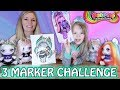 3 MARKER CHALLENGE - POOPSIE SURPRISE UNICORNS! MOM VS DAUGHTER!