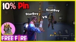 (Free Fire) Sì-ta-boi gặp Sì-cat-boi tử chiến 10% Pin  | StarBoyVN