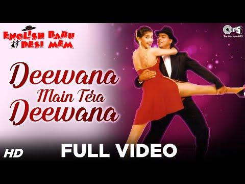 Deewana Main Tera Deewana - English Babu Desi Mem | Shahrukh & Sonali | Kumar Sanu & Alka Yagnik