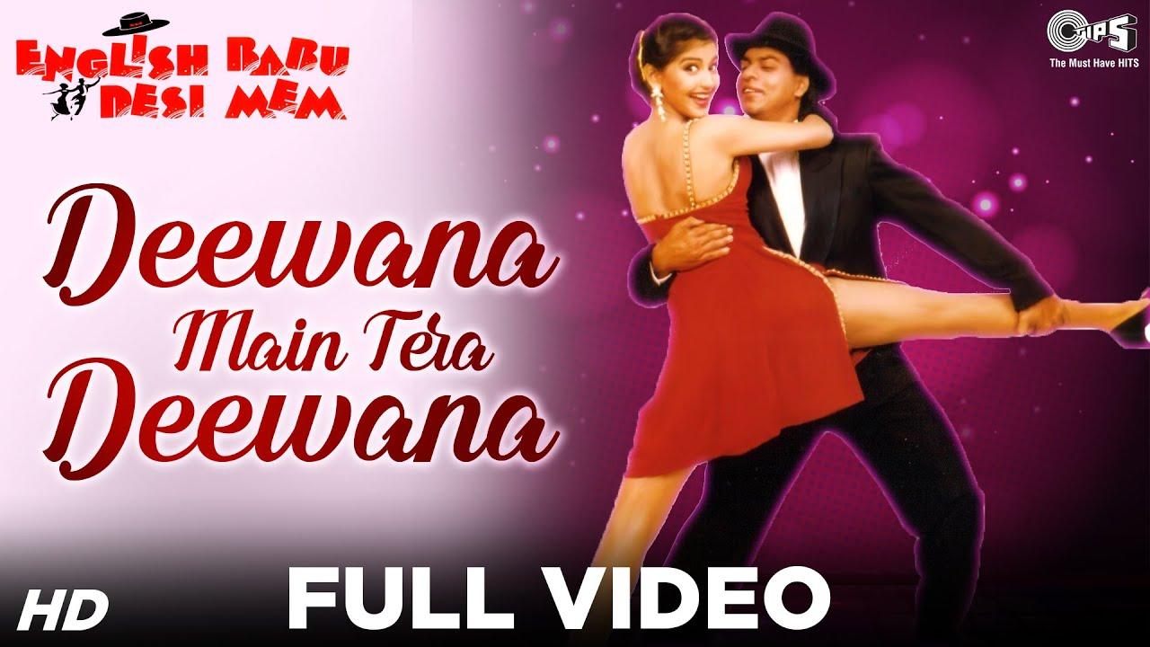 Download Deewana Main Tera Deewana Full Video - English Babu Desi Mem | Shahrukh Khan, Sonali Bendre