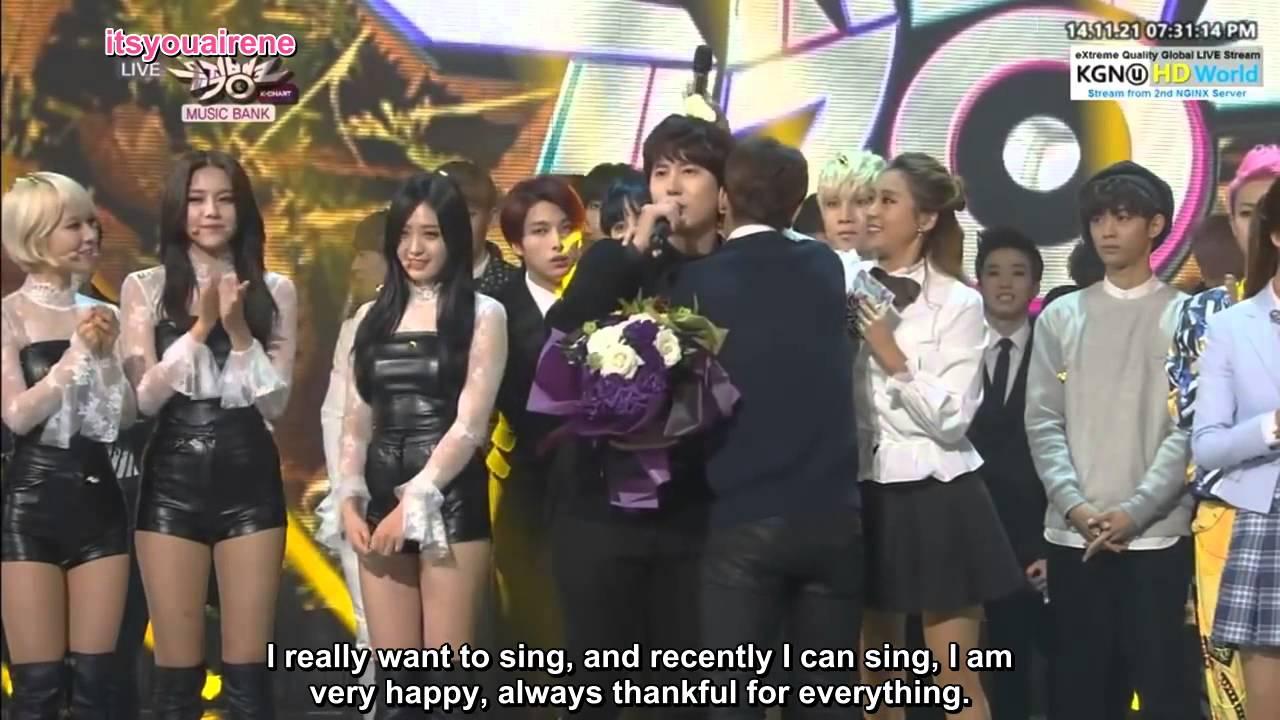 Eng Sub 141121 Kbs Music Bank Kyuhyun 2nd Win Cut Youtube