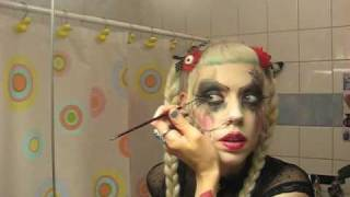 Adora's goth make-up tutorial #2 'The practice'