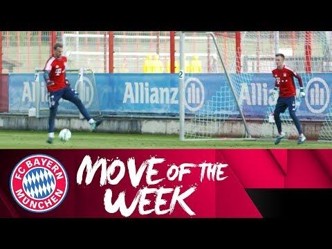 Manuel Neuer Scores Backheel Goal in Training!   Goodyear Move of the Week