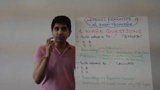 Edexcel AS Economics - 4 Marker Exam Technique