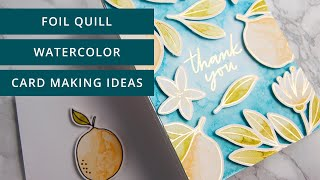 Foil Quill Watercolor Card Making Ideas (Silhouette Studio, Designer Edition Walkthrough Included)