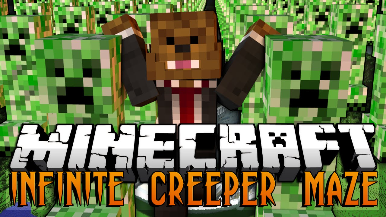 Infinite Creeper Maze Map