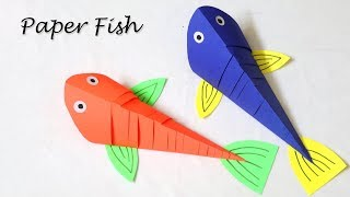 How to Make a Moving Paper Fish | Easy Paper Crafts for Kids